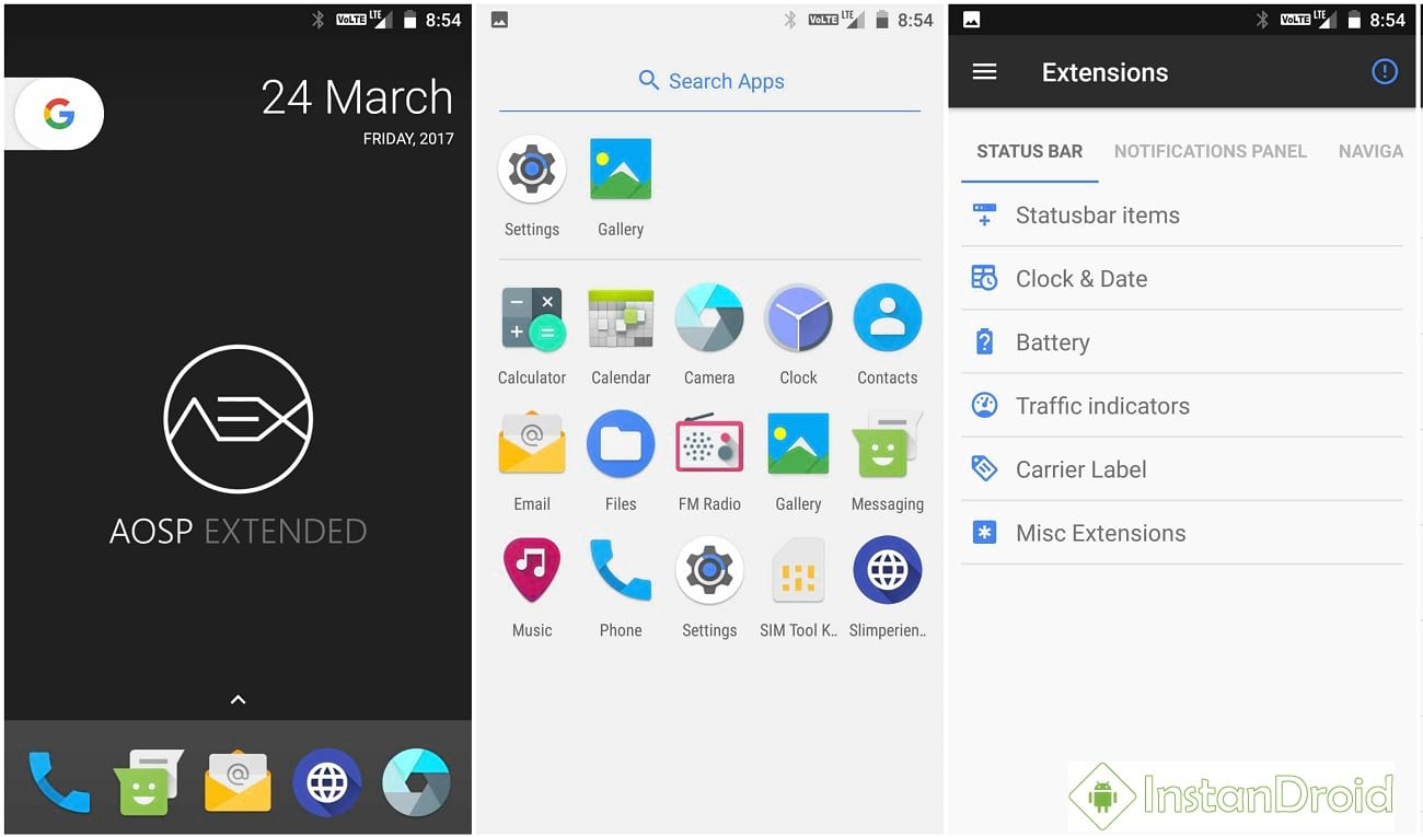 Coolpad Note 3 Nougat Custom Rom AOSP Extended 4 3 | InstanDroid