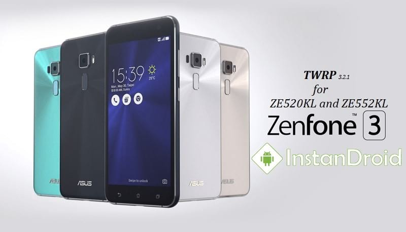 Asus Zenfone 3 Custom Recovery TWRP for Android 7.1.2 Nougat and 8.0 Oreo (ZE520KL and ZE552KL)