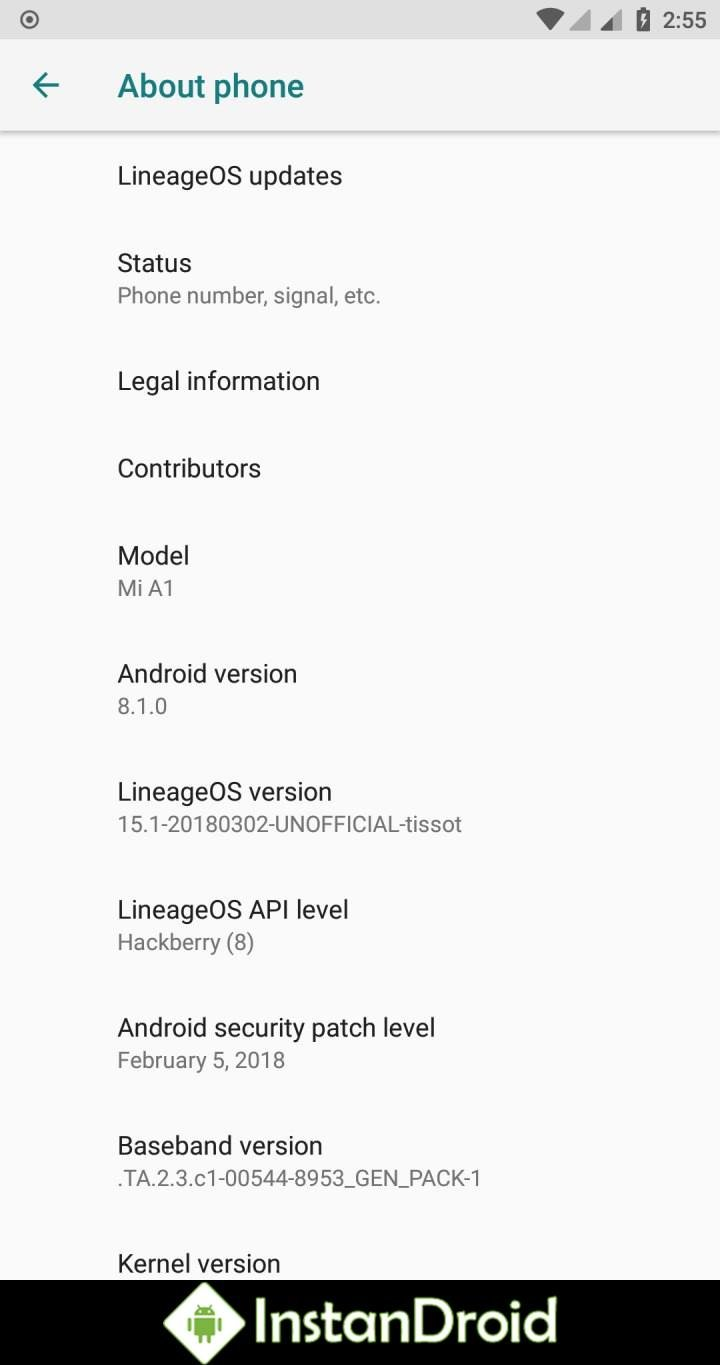 Xiaomi Mi A1 Oreo Custom Rom Lineage OS 15 1 (Unofficial) | InstanDroid