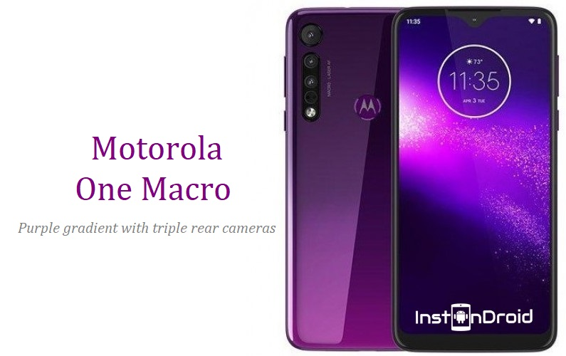 Motorola One Macro Announced With Purple Gradient and Triple Rear Cameras Launch, Price and Specification